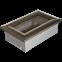 Решетка KRATKI чёрное золото (покрашенная) 11х17 см 0