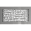 Решетка KRATKI ABC шлифованая 17х30 см 2