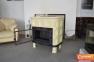 Кафельная печь камин Kaw-met W9 глянцевая кремовая 12.8 кВт 0