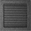 Решетка KRATKI чёрное серебро (покрашенная) 22х22 см с жалюзями 0