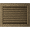 Решетка KRATKI чёрное золото (покрашенная) 22х30 см с жалюзями 0