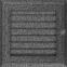 Решетка KRATKI Oskar чёрно-серебряный (покрашенная) 17х17 см с жалюзями 0