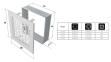 Решетка KRATKI ABC бежевая 17х49 см 0