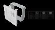 Решетка KRATKI ABC белая 17х49 см 0