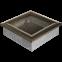 Решетка KRATKI чёрное золото (покрашенная) 17х17 см 0