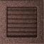 Решетка KRATKI медная (покрашенная) 17х17 см с жалюзями 1