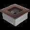 Решетка KRATKI медная (покрашенная) 11х11 см 0