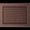 Решетка KRATKI медная (покрашенная) 22х30 см с жалюзями 1