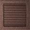 Решетка KRATKI медная (покрашенная) 22х22 см с жалюзями 1