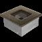 Решетка KRATKI чёрное золото (покрашенная) 11х11 см 0