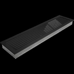 Решетка KRATKI FRESH чёрная 17х70 см
