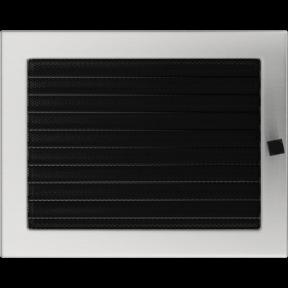 Решетка KRATKI шлифованная 22х30 см с жалюзями
