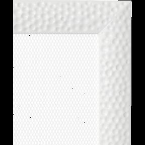 Решетка KRATKI Venus белый (покрашенная) 22х45 см
