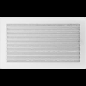 Решетка KRATKI белая (покрашенная) 22х45 см с жалюзями
