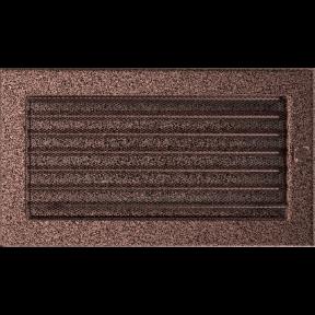 Решетка KRATKI медная (покрашенная) 17х30 см с жалюзями