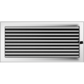 Решетка KRATKI никелированная 22х45 см с жалюзями