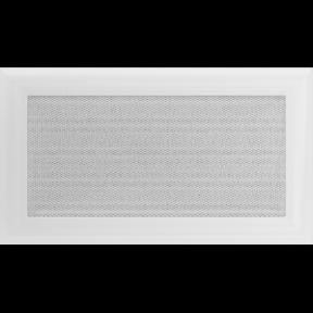 Решетка KRATKI Oskar белый (покрашенная) 17х30 см