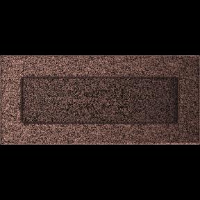 Решетка KRATKI медная (покрашенная) 11х24 см