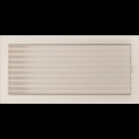Решетка KRATKI бежевая (покрашенная) 22х45 см с жалюзями