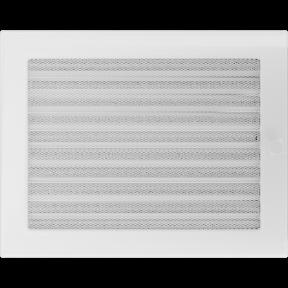 Решетка KRATKI белая (покрашенная) 22х30 см с жалюзями