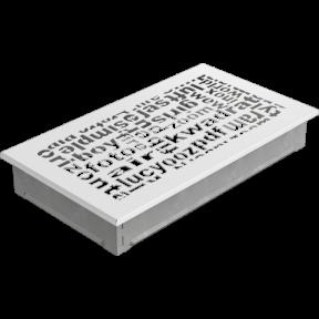 Решетка KRATKI ABC белая 17х30 см
