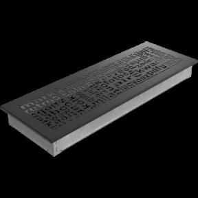 Решетка KRATKI ABC чёрная 17х49 см