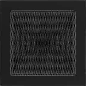 Решетка KRATKI чёрная (покрашенная) 22х22 см