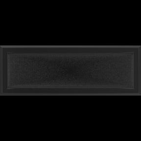 Решетка KRATKI Oskar чёрный (покрашенная) 17х49 см