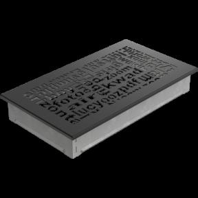 Решетка KRATKI ABC чёрная 17х30 см
