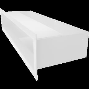 Решетка KRATKI люфт белая 9х40 см