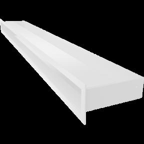Решетка KRATKI люфт SF белый 90х1000 мм
