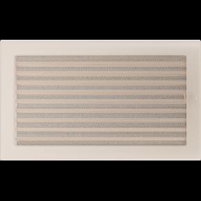 Решетка KRATKI бежевая (покрашенная) 22х37 см с жалюзями