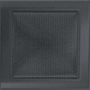 Решетка KRATKI графитовая (покрашенная) 22х22 см