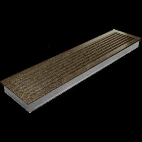 Решетка KRATKI FRESH чёрно-золотая 17х70 см