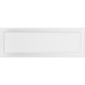 Решетка KRATKI Oskar белый (покрашенная) 17х49 см