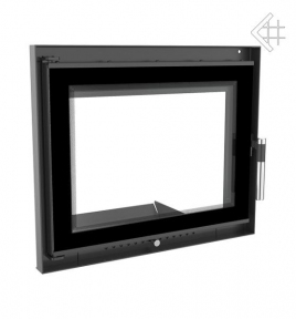 Дверца для камина KRATKI Felix 616х750 мм с прямым стеклом DECO