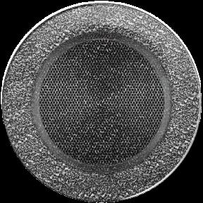 Решетка KRATKI круглая FI чёрно-серебряная 100 мм