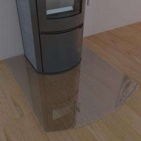 Подставка стеклянная под печь MADRIT