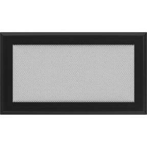 Решетка KRATKI Oskar чёрный (покрашенная) 17х30 см