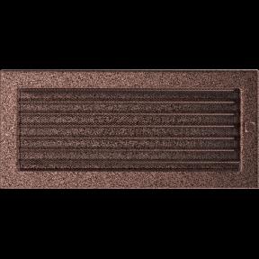 Решетка KRATKI медная (покрашенная) 17х37 см с жалюзями