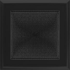 Решетка KRATKI Oskar чёрный (покрашенная) 17х17 см