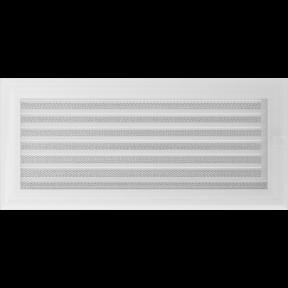 Решетка KRATKI Oskar белый (покрашенная) 17х37 см с жалюзями