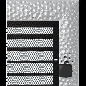 Решетка KRATKI Venus никелированый 17х37 см с жалюзями