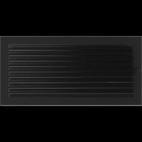 Решетка KRATKI чёрная (покрашенная) 22х45 см с жалюзями