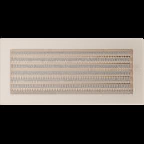 Решетка KRATKI бежевая (покрашенная) 17х37 см с жалюзями