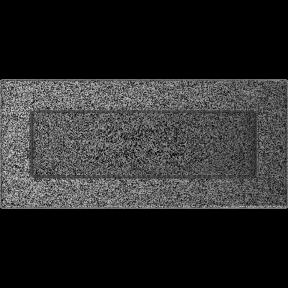 Решетка KRATKI чёрное серебро (покрашенная) 11х24 см