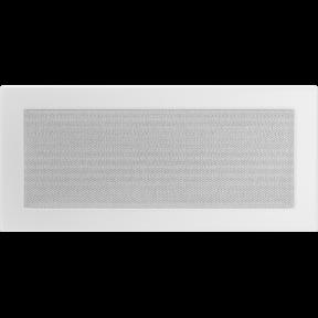 Решетка KRATKI белая (покрашенная) 17х37 см
