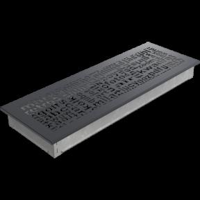 Решетка KRATKI ABC графитовая 17х49 см