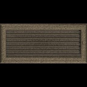 Решетка KRATKI Oskar чёрно-золотой (покрашенная) 17х37 см с жалюзями
