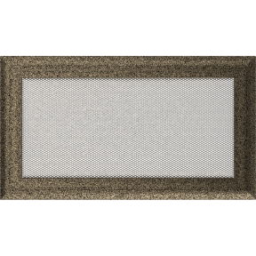 Решетка KRATKI Oskar чёрно-золотой (покрашенная) 17х30 см